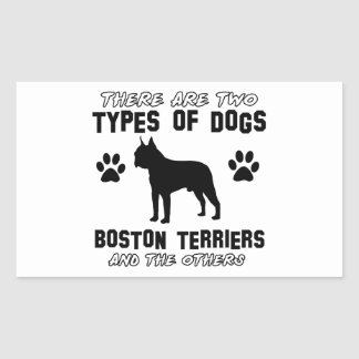BOSTON TERRIER gift items Rectangle Stickers