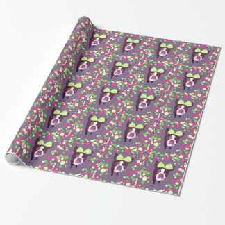 Boston Terrier Girl Bow Pop Art Wrapping Paper