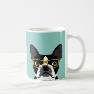 Boston Terrier Glasses Mug