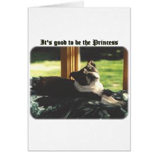 Boston Terrier:  Good to be Princess Card