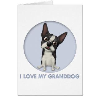 Boston Terrier Granddog Card