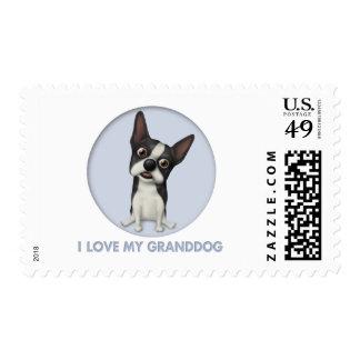 Boston Terrier Granddog Stamps