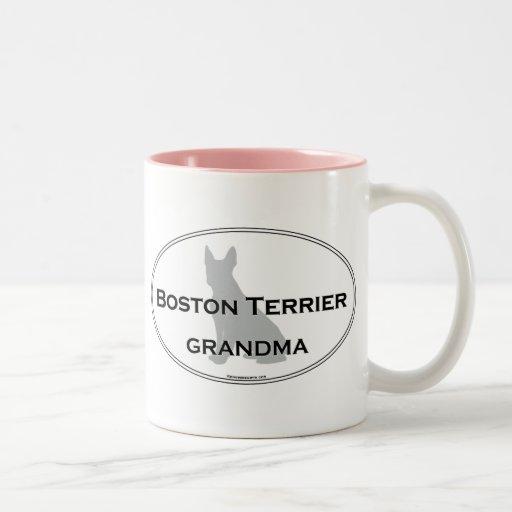 Boston Terrier Grandma Two-Tone Coffee Mug