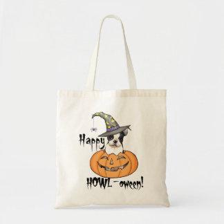 Boston Terrier Halloween Tote Bags