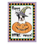 Boston Terrier Halloween Card