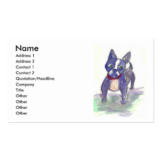 Boston Terrier hand-painted Business Cards
