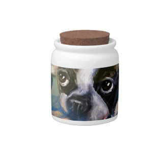Boston Terrier happiness tribute Candy Dish