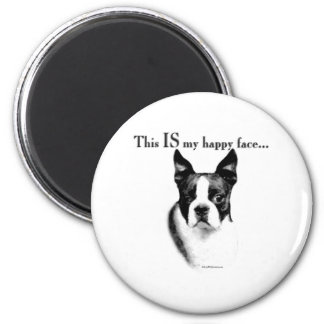 Boston Terrier Happy Face - Magnet