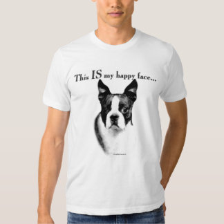 Boston Terrier Happy Face T-shirts