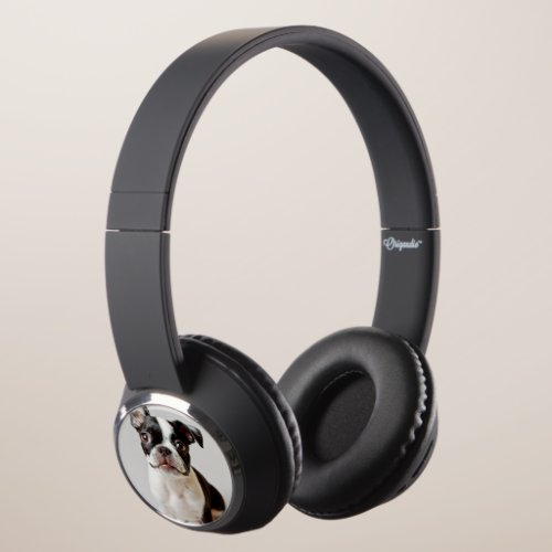Boston Terrier Headphones