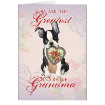 Boston Terrier Heart Grandma Card