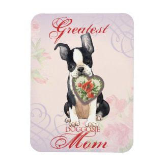 Boston Terrier Heart Mom Magnet