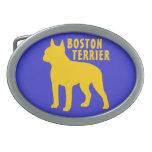 Boston Terrier Hebilla Cinturón Oval