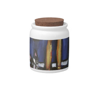 Boston Terrier His & Hers Candy Jar