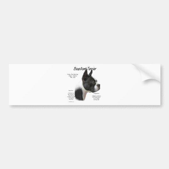 Boston Terrier History Design Bumper Sticker