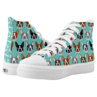 Boston Terrier hola remata - los zapatos lindos Zapatillas