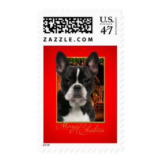 Boston Terrier Holiday Postage