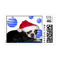 Boston Terrier Holiday Stamp