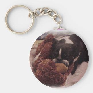 Boston Terrier:  I Knead My Bear Keychain
