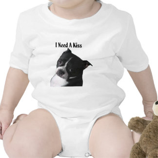 Boston Terrier:  I Need a Kiss Rompers
