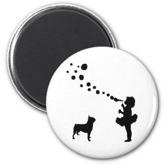 Boston Terrier Imán De Nevera