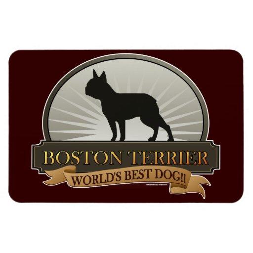 Boston Terrier Imán De Vinilo