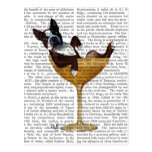 Boston Terrier in Cocktail Glass 2 Postcard