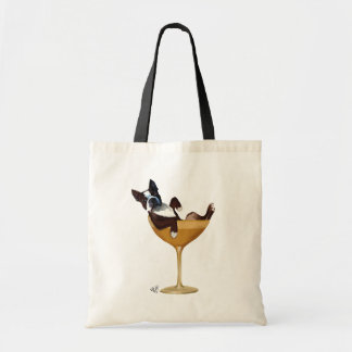 Boston Terrier in Cocktail Glass 2 Tote Bag