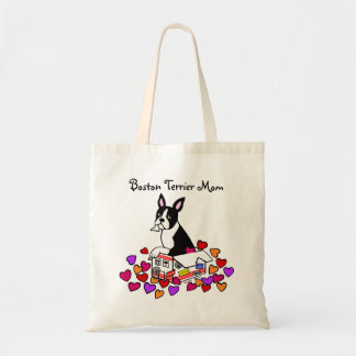 Boston Terrier in the Box Cartoon Tote Bag