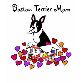 Boston Terrier in the Box Cartoon shirt