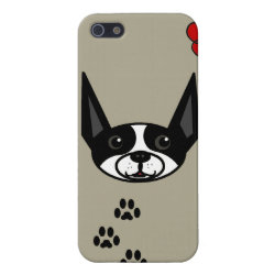 Case Savvy iPhone 5 Matte Finish Case with Boston Terrier Phone Cases design