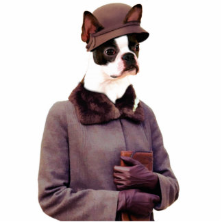 Boston Terrier Jazz Lady Photo Sculpture Gifts