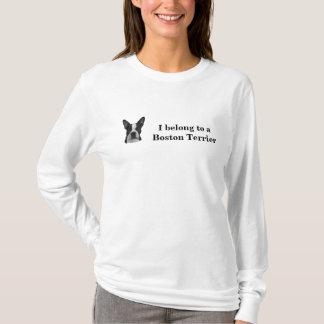 Boston Terrier Ladies Long Sleeve Tee