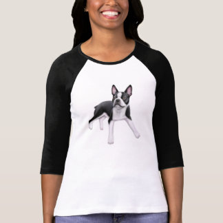 Boston Terrier Ladies Raglan Shirt