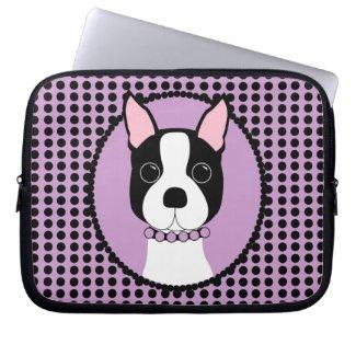 Boston Terrier Laptop Sleeve fuji_electronicsbag