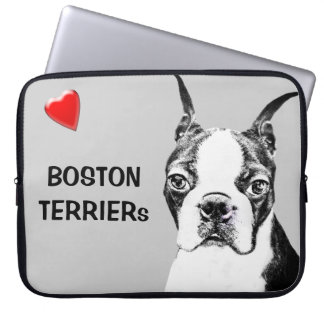 Boston Terrier Laptop Computer Sleeves