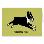 Boston Terrier le agradece (el personalizable) Felicitación