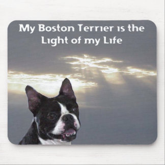 Boston Terrier:  Light of my Life Mouse Pad