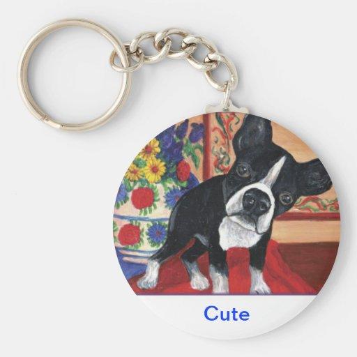 Boston Terrier Llavero