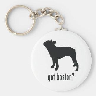 Boston Terrier Llavero Redondo Tipo Pin