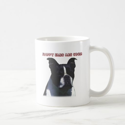 Boston Terrier:  ¡Los oídos flojos son frescos! Taza