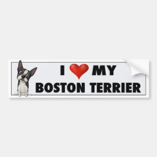 Boston Terrier Love BOST1 Car Bumper Sticker