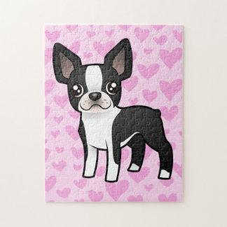 Boston Terrier Love Jigsaw Puzzle