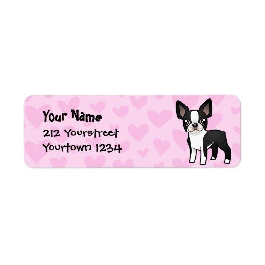 Boston Terrier Love Label