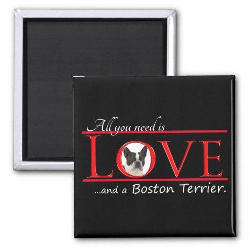 Boston Terrier Love Magnet