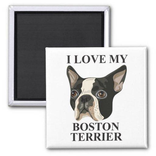 Boston Terrier Love Refrigerator Magnets