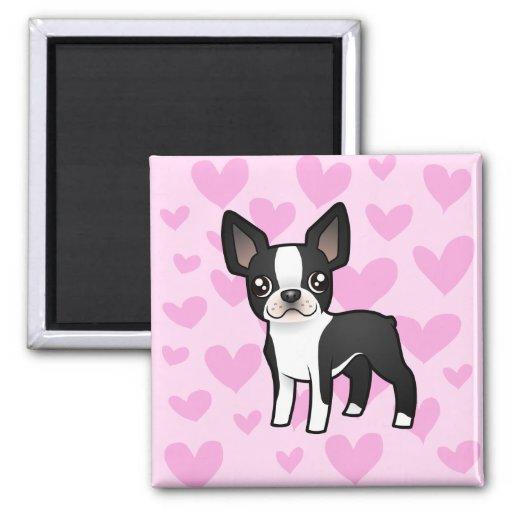 Boston Terrier Love Fridge Magnets