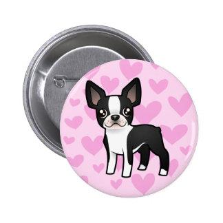 Boston Terrier Love Pinback Button