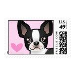 Boston Terrier Love Stamps