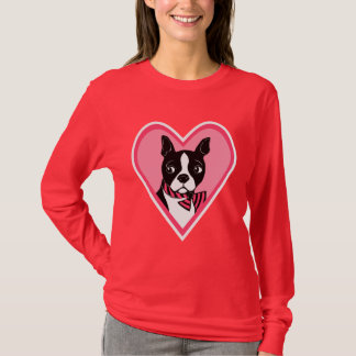 Boston Terrier Love Women's Long Sleeve T-Shirt
